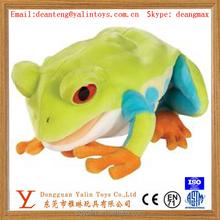 OEM customized super soft lifelike plush stuffed toy colorful frog 2015 professional design