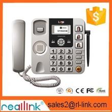 Escritorio de la oficina GSM teléfono de identificación de llamadas del teléfono botón grande, montado en la pared del teléfono