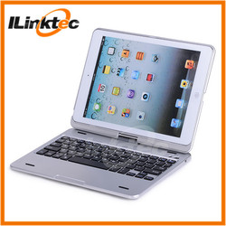 360 degree rotation mini bluetooth keyboard case with touchpad for ipad mini