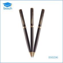 half metal pen,black metal ballpen,black ink pens metal cross pen slim
