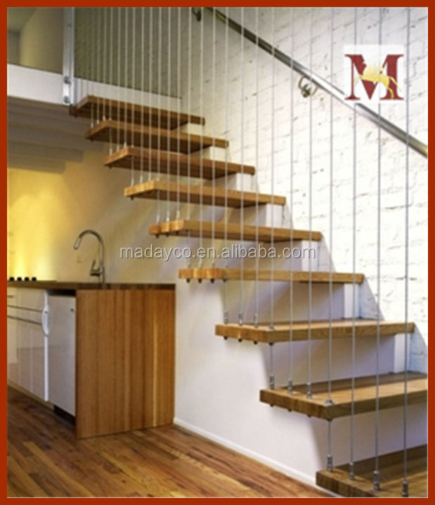 wrought iron wood cantilevered staircase steel railings