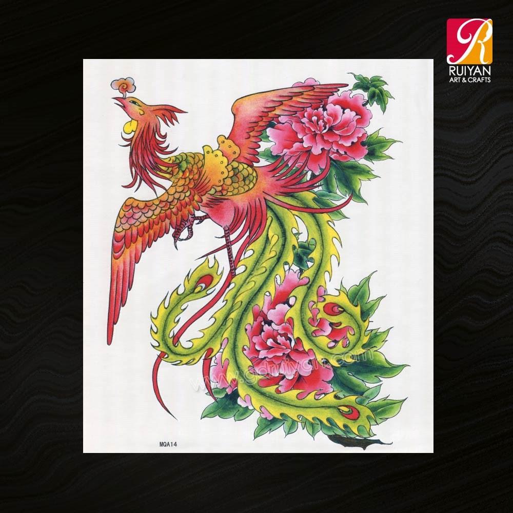 Phoenix custom body temporary tattoos sticker mqa14 buy for Custom tattoo stickers