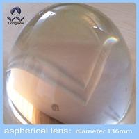 3pcs,Diameter 136mm optical glass aspheric plano convex lens