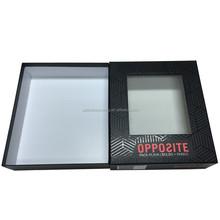 2016 maßgeschneiderte rechteckigen papier geschenk-boxen mit deckel matt schwarz
