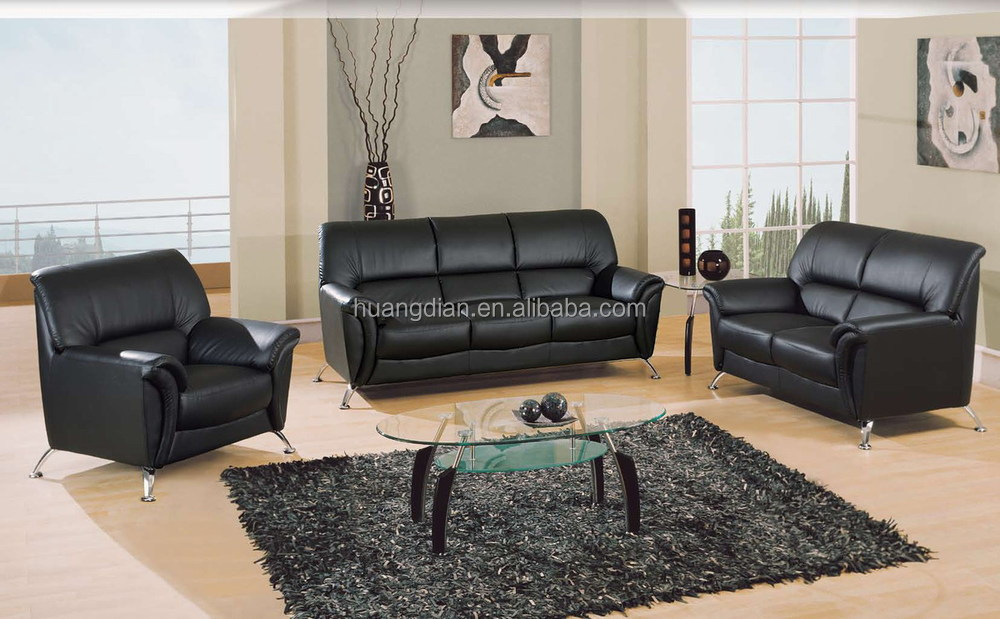 Modern Latest Design Leather Sofa Set 3 2 1 Seat Free Simple Ss4029
