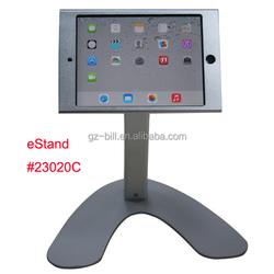 retail restaurant mount holder for mini iPad/ hard case with lock standing/ hands free support housing POS menu for customer