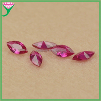 high quality marquise shape synthetic ruby stone for Jewelry making