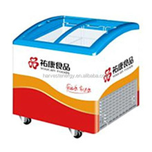 Display freezer sliding glass door chest freezer about 235L and 415L.