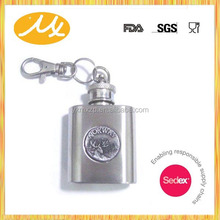 Promotional Stainless Steel Hip Flask PU covered/5oz Water Printing Stainless Steel hip flask