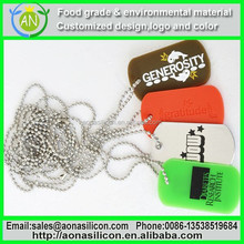 Silicone Dog Tag Silencer /Pet Pendants /Dog Name Tags,silicone dog tag for pets with custom embossed logo