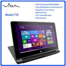 "10.1"" n2806 intel de doble núcleo ventanas 8 mini ordenador portátil"
