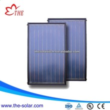 blue titanium coating flat plate solar water heater collector