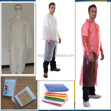 disposable PE plastic adult rain coats