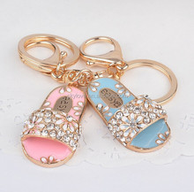 Fashion Summer Lady's Slipper shoe jewelry chains/ shoes key chain