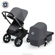 High landscape Grey Multi-Function Baby Stroller with EN1888 Certification by Land Leopard Brand
