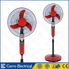 12V 15W battery operated DC solar rechargeable standing fan DC home appliance
