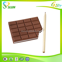 Wholesale promotional custom logo colorful Notebook Chocolate