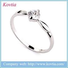 2015 hot sale fashion silvery zircon ring silver diamond ring single diamond ring titanium gemstone