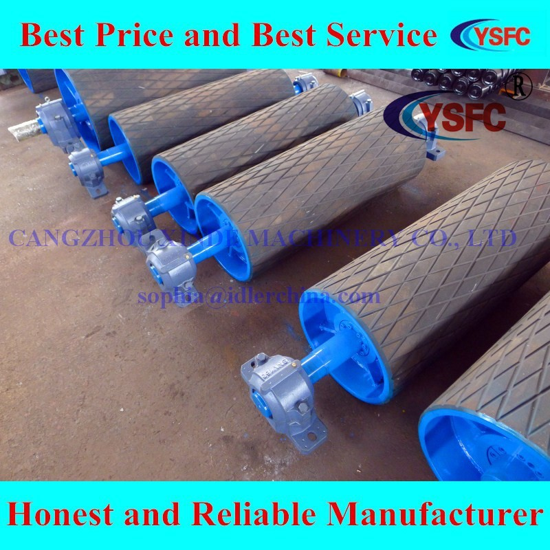 Material de la correa transportadora cinta transportadora polea tambor