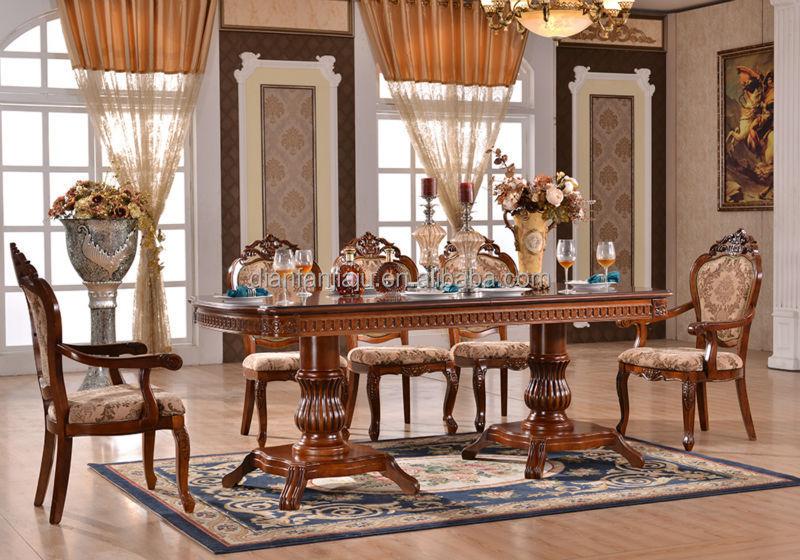 Moderna mesa De comedor de Madera y sillas para comedor-Sets para ...