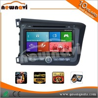 8'' Auto In-car Multimedia interfaces GPS Navigation System with Parking Guidelines for HONDA New Civic