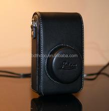 Black professional camera bag genuine leather camera bag design from China