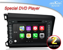 8 inch 2 din digital tv car cd dvd player for 2012 Honda Civic