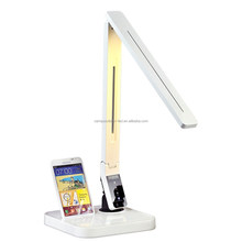 Adjust brightness/color temperature foldable LED table lamp with USB port LED table lamp