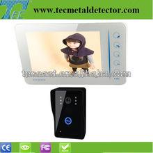 """7 """" CMOS de manos libres del teléfono del color video de la puerta sistema de intercomunicación para la casa TEC707VJ11"""