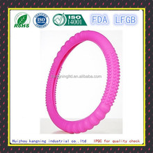 Soft safety durable silicone purple steering wheel cover