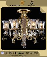 Deluxe Style Modern Crystal Rhinestoned Pendant Chandelier Ceiling Lamp