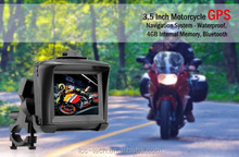 Waterproof Motorcycle Bike 3.5 Inch Outdoor GPS Navigation System - 4GB, BT MP3,MP4