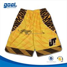 Digital sublimation dri fit custom design college basketball shorts