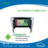 8 inch Android 4.4 Car DVD player for TOYOTA CAMRY 2012 with Bluetooth Radio GPS free map BT wifi 3g support DVR