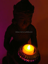 pray for paris Flickering Flamelessb Mood Lights Wax Blow Flashing LED Candle for All Soul's Day
