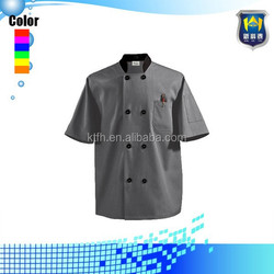 Men's Tall Traditional Fit Chef Coat Knotted Cloth Buttons 100% Cotton Chef Coat Uniform
