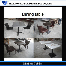 Solid Surface Artificial marble restaurant furniture pictures of modern dining table chair