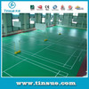 Green color indoor PVC flooring for badminton court,table tennis court,basketball court