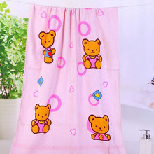 Alibaba sale antibacterial Environmental protection soft and comfortable baby towel print child towels