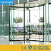 CN automatic revolving door full glass stainless steel