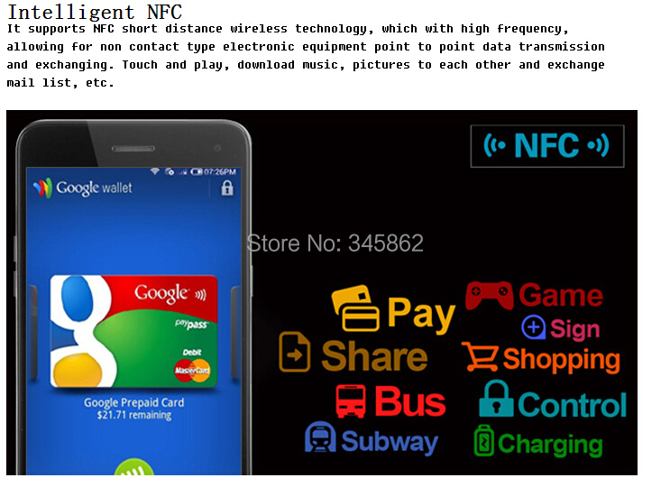 Hot!!! Mpie 909T Android 4.4 3G Smartphone Quad Core 1.3GHz OTG NFC WiFi Display Screen Off Screen Fingerprint Identification