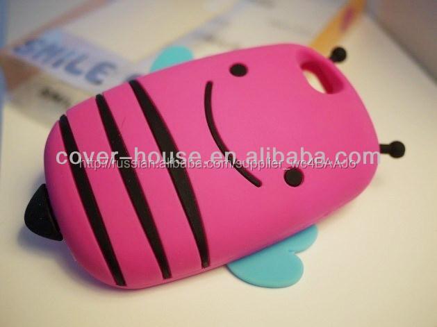 Новое поступление милый 3D улыбка силиконовый чехол для iPhone 5 G 4 г 4S улыбка би чехол для телефона