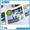 high quality custom clear self adhesive label sticker