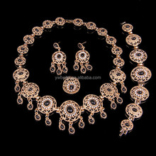 18K Gold Plated African Beads Bridal China Fashion Jewelry Sets Wedding Party