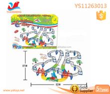 Gros vitesse piste jouet ferroviaire ferroviaire Toy jouet électrique batterie exploité voitures piste ferroviaire ferroviaire à vendre