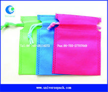Wedding favor bag drawstirng small non woven pouch bag for gift candy
