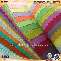 1830 CVC Slub Plain-dyed Woven Shirting Fabric