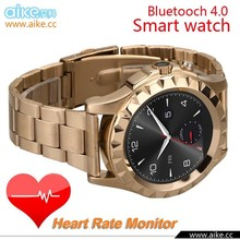 2015 Newest Heart rate monitor Smart Watch Round screen Multifunctional WristWatch For Samsung iphone 6 IOS Android cellPhone