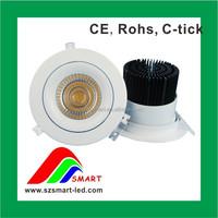 90.83lm/W Ultra bright recessed adjustable led cob downlight