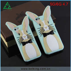 For iPhone 6 White Rabbit Series Silicone Case Shockproof Case For iPhone 5 inch 4.7 inch 5.5 inch